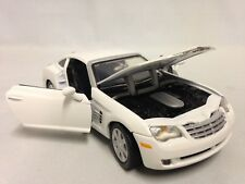 "2003 Chrysler Crossfire Collectibles 1:24 Scale 7"" Diecast By MotorMax Toy White"