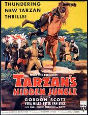 TARZAN'S HIDDEN JUNGLE 1955 Gordon Scott, Vera Miles, Peter van Eyck TRADE AD