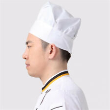 Cook BBQ Grilling Kitchen Uniform Cooking Baker Cloth Adult Hat White Chef Hat
