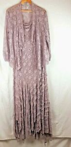Chesca Pink Lacy Dress size 20 and 18 Jacket Mother of the Bride
