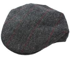 New Trinity Cap 100% Wool Charcoal Herringbone Irish Made Mucros
