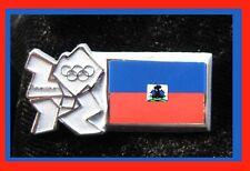 Londres 2012 Haití Bandera Insignia pin de país 2012 -1376