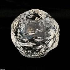 "Kosta Boda Snowball Votive Tea Light Candle Holder Clear Crystal 3"""
