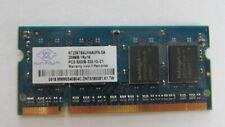 NT256T64UH4A0FN-5A Nanya 256MB DDR2 SoDimm Non ECC PC2-3200 400Mhz Memory