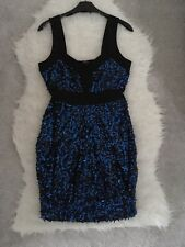 Jane Norman Bodycon Sequin Dress Small Size 14 Party Worn Once Occasion Evening