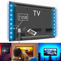 4X TV LED Computer Kit USB Powered Wireless Accent Ambient Back Light Strips RGB