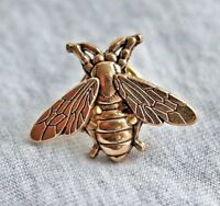 Fab Small Vintage Style Gold Tone Bee Brooch Pin Badge Insect Gift Broach Lapel