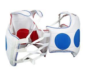 Traditional Martial Arts Reversible Chest Guard Body Protector Taekwondo Gear