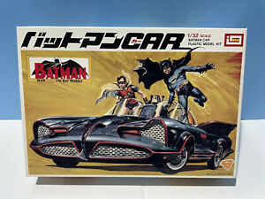 Imai 1987 DC Batman & Robin Batmobile plastic model kit 1/32 scale Japan NEW