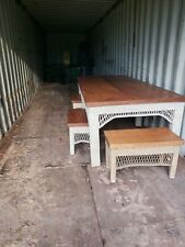 New listing Antique Wicker Table, seats 6 or more