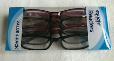 Equate Readers Queens +1.50 Reading Glasses  Womens Multicolor  4 Pack New