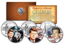 JOHN F KENNEDY Statehood Quarters US 3-Coin Set with JOHN JUNIOR & JACQUELINE
