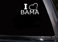 "I love Heart Bama Alabama Crimson Tide Decal Auto Window SEC Football 5"" x 5"""