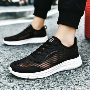 Men Hollow Casual Sports Shoes Breathable Running Walking Flats Athletics Tennis