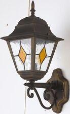 TYRRELL APPLIQUE LAMPADA DA PARETE ESTERNA IN ALLUMINIO NERO DIFFUSORE IN VETRO
