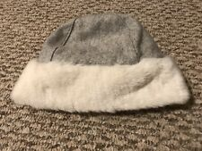 Janie And Jack Winter Hat Grey Wool Blend  12-24 M Baby Girl Pink Lining EUC❤️