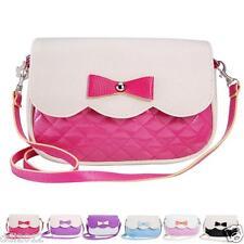 Fashion Tote Women Girls Bowknot Handbag Diamond Leather Charm Crossbody Bag