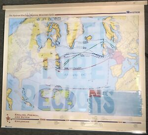 Custom Painted Nystrom US History Map School Classroom Wall Hanger Or Home Decor