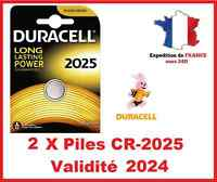 2 Piles CR-2025 DURACELL bouton Lithium 3V DLC 2026