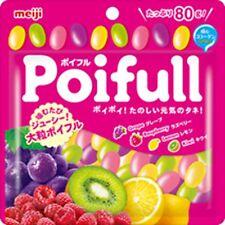 Meiji Fruit taste Gummy Large grain Poifull 80g × 10 bags 4 flavor Assort F/S