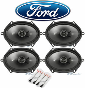 """Kicker 6x8"""" Front+Rear Speaker Replacement Kit For 05-07 Ford F-250/350/450/550"""