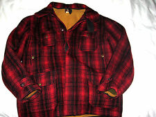 WOOLRICH MACKINAW BUFFALO PLAID HUNTING JACKET COAT-WINDTAB COLLAR-LINED-44 M