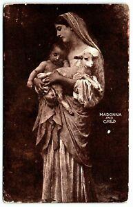Antique Postcard~ Madonna, Child, and Lamb~ A263