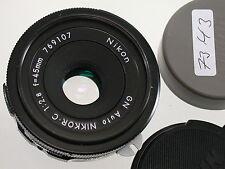 GN AUTO NIKKOR.C NIKON 2,8/45 45mm F2,8 NON-AI MF THE ORIGINAL   /14K