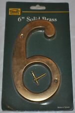 """Solid Brass 6"""" House Home Address Numbers # 6 or 9"""