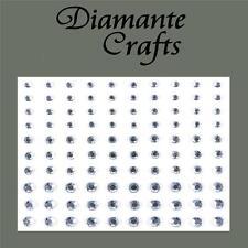 3mm 4mm 5mm Clear Diamante Self Adhesive Rhinestone Body Nail Vajazzle Gems
