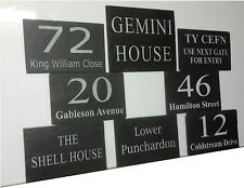 1st 4 Signs- Hand Made Slate Memorial Plaques - Pet Grave Markers 10 Paw Prints Left Side X4