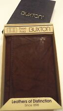 Buxton Trader Genuine Leather Trifold Wallet,Brown