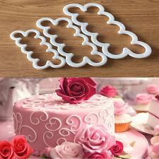 Neu 3D Rosen Blumen Fondant Kuchen Schokolade Sugarcraft Form Dekor Werkzeug