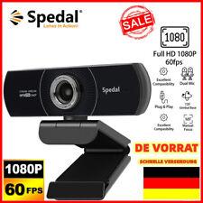 Spedal Webcam 1080p 60fps Webcam mit Zwei Mikrofonen für OBS XSplit Skype Facebo