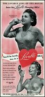 1950 Teen beauty Georgia Lee Lovable Brassiere co. vintage photo print ad ads38