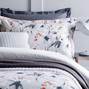 Christy Nina Coral Kingsize Bed Duvet Cover Set