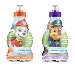 Paw Patrol Flavoured Spring Water, Zero Sugar w/ Vitamins (12 x 330ml bottles)