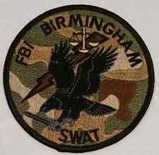 "FBI Birmingham Alabama SWAT Team Special Weapons and Tactics 3.75"" AOR1 Patch"