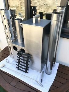 Wood Fired Hot Tub Heater / Stove / Burner - STAINLESS STEEL with Tools, Cover.