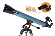 Celestron Inspire 80AZ Refractor Telescope with Smart Phone Adapter