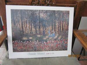 """Monet Art Print on Board JOUR DE L'ETE  20"""" x 15 3/.4"""" semi-gloss"""
