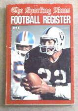 THE SPORTING NEWS TSN NFL FOOTBALL REGISTER - 1983 - BO JACKSON