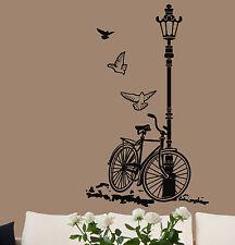 Wall stickers sticker adesivi murali arredo casa BICI su LAMPIONE 110x200salotto