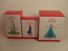 Hallmark 2015 Disney Frozen Ornament Set of 3 Anna Olaf Elsa