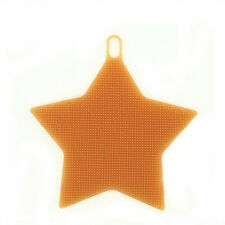 1Pc Silicone Wash Dish Brush Soft Sponge Orange Star Durable Home Cleaning Tool