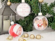 Personalised Christmas Photo Bauble with Personalised Message, Christmas Gift