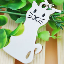 Cute Smooth Cat Keychain KeyRing Unisex Pendant Gift Present Kid Creative