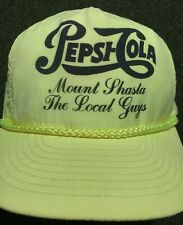 a768253cc66 VINTAGE Pepsi Cola HAT Neon YELLOW Or HOT YELLOW HAT CAP