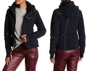 Spyder Women's Radiant Primaloft Insulated Hooded Ski Jacket Black Size 14