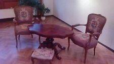 2x Stuhl 1x Hocker und 1x Tisch Louis Philippe XIV Intarsien